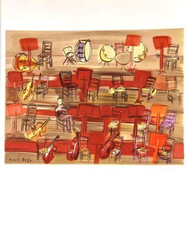Lithographie Dufy - L'Entracte