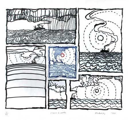 Gravure Alechinsky - L'envie De Partir