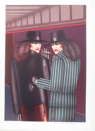 Lithographie Okshteyn - Les 2 amies