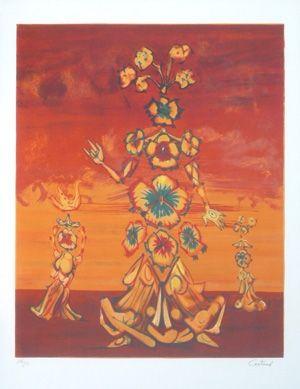 Lithographie Coutaud - Les 3 graces