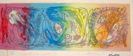 Lithographie Alechinsky - Les 3 têtes