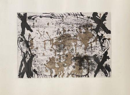 Gravure Tàpies - Les 4 croix