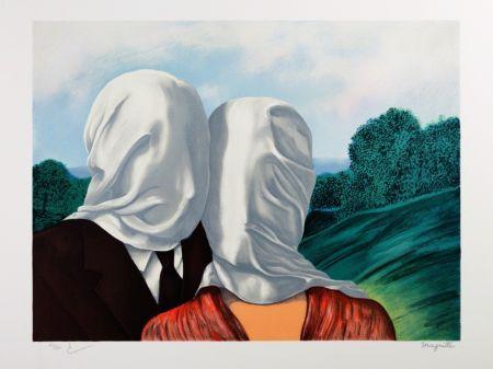 Lithographie Magritte - Les Amants