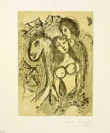 Gravure Chagall - Les amoureux au cheval