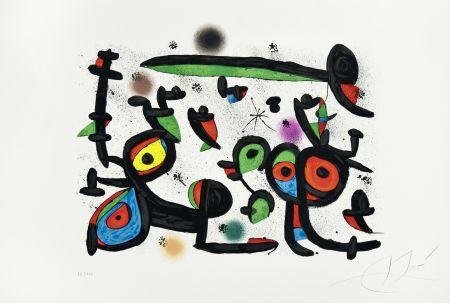 Lithographie Miró -  Les Amoureux et Luna Park I