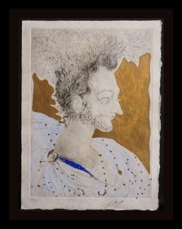 Gravure Dali - Les Amours de Cassanre Portrait de Ronsard