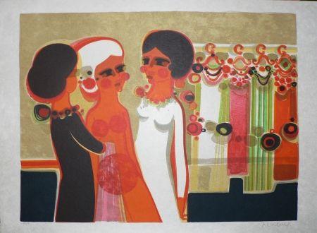 Lithographie Menguy - Les Angéliques : Habillage