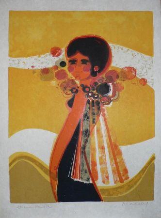 Lithographie Menguy - Les Angéliques : Mondaine