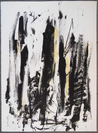Lithographie Mitchell - Les arbres en jaune
