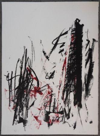Lithographie Mitchell - Les arbres en rouge