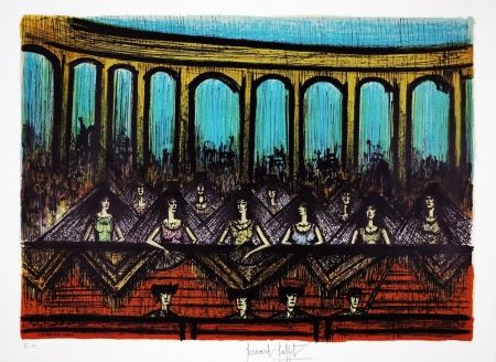 Lithographie Buffet - LES ARENES / ARENAS (Bullfighting)