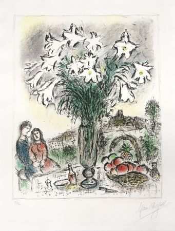 Lithographie Chagall - Les Arums