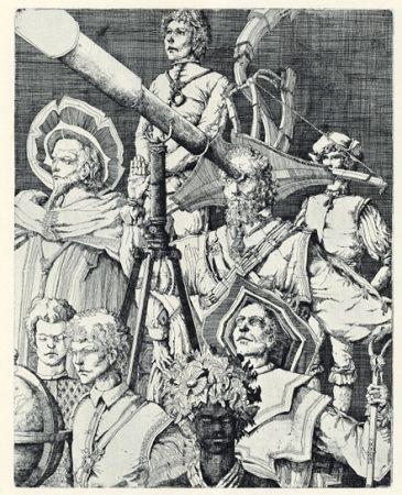 Gravure Desmazières - Les Astronomes