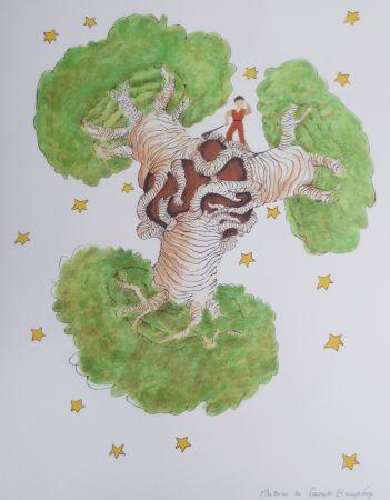 Lithographie Saint-Exupéry - Les Baobabs