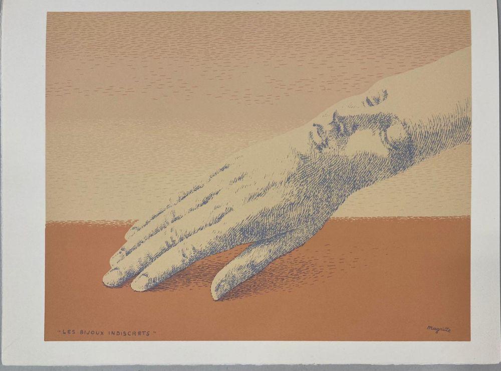 Lithographie Magritte - Les bijoux indiscrets