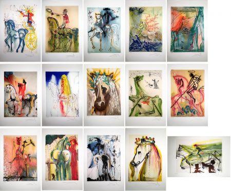 Eau-Forte Et Aquatinte Dali - LES CHEVAUX DALINIENS : 25 lithographies en couleurs signées au crayon (1972/1980)