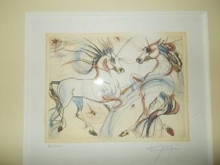 Lithographie Guiny - Les chevaux de Jupiter