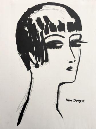 Lithographie Van Dongen - Les Cheveux Courts