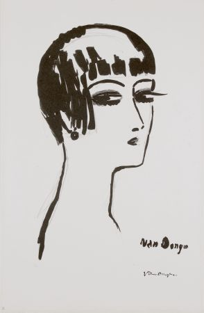 Lithographie Van Dongen - Les Cheveux Courts, 1th State
