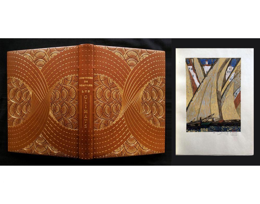 Livre Illustré Schmied - LES CLIMATS. L'exemplaire de F.-L. Schmied avec gouaches originales, suites signées dans une reliure de Cretté.