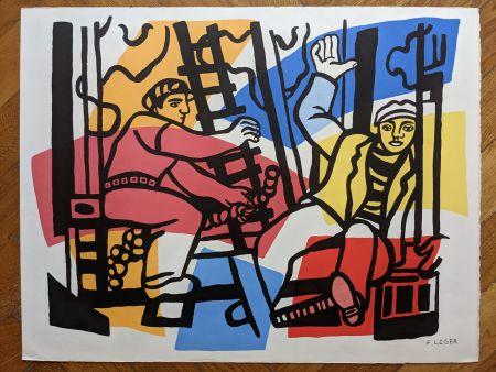 Lithographie Leger - Les constructeurs