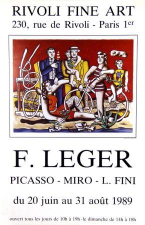 Offset Leger - Les Cyclistes au Bois de Boulogne