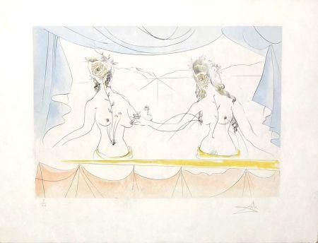Gravure Dali - Les dames de la renaissance