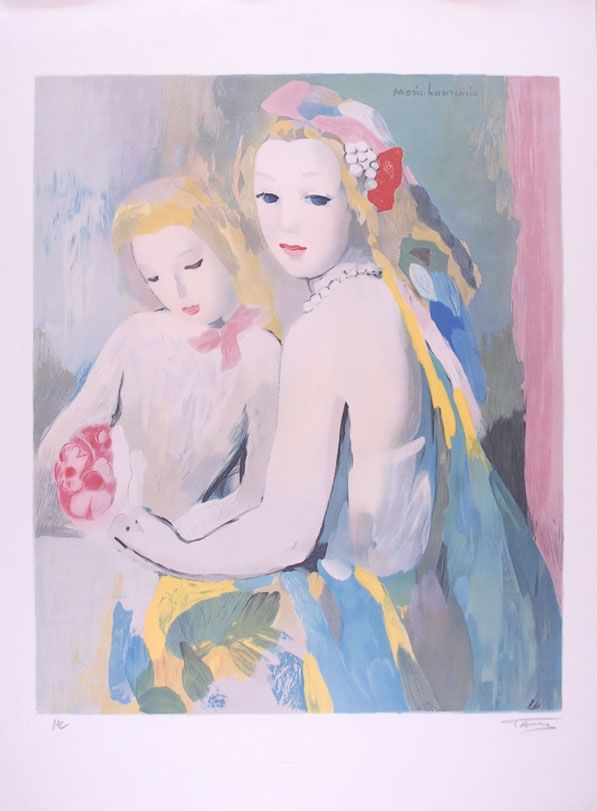 Lithographie Laurencin - Les deux amies