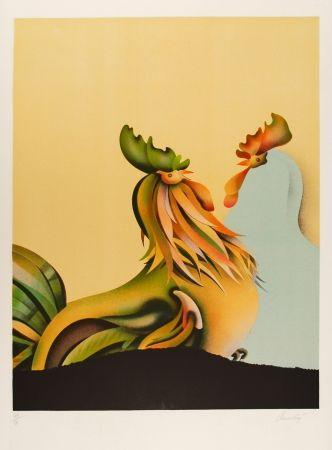 Lithographie Donadini - Les deux amis / The Two Friends