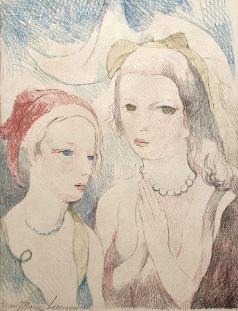 Lithographie Laurencin - Les deux anges