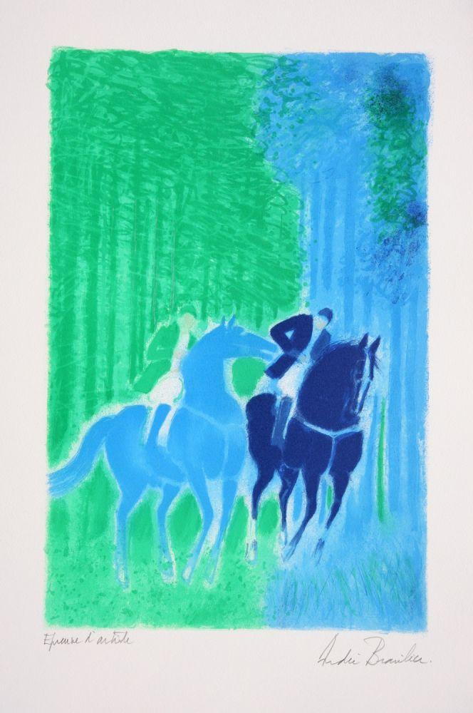 Lithographie Brasilier - Les Deux Cavaliers