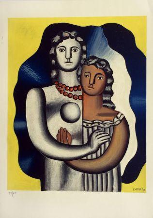 Lithographie Leger - Les Deux Figures from 'Derriere Le Miroir'