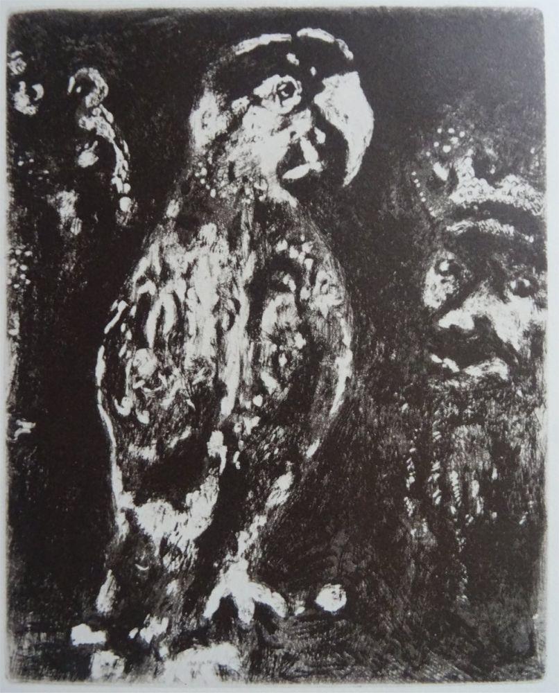 Eau-Forte Chagall - Les deux Perroquets, le Roi et son fils