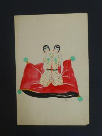 Aucune Technique Gesmar - Les Dolly Sister sur un canapé