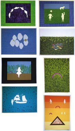 Lithographie Maglione - Les enfants dans la prairie