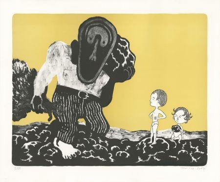 Lithographie David B - Les Enfants et le Géant