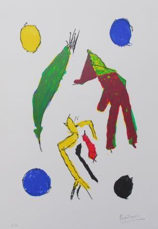 Lithographie Ionesco - Les esprits et leurs lunes