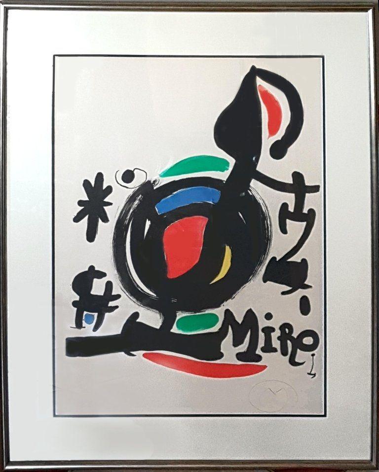 Lithographie Miró - Les Essencies de la Terra Exhibition (M. 625)
