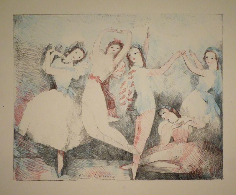 Lithographie Laurencin - Les fêtes de la danse