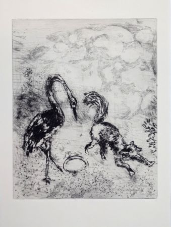 Gravure Chagall - Les Fables De La Fontaine