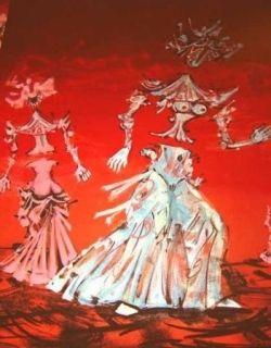 Lithographie Coutaud - Les femmes fleurs