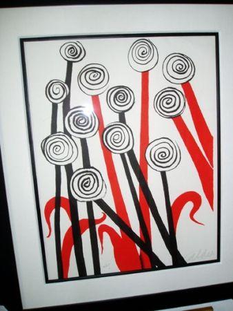 Lithographie Calder - Les Fleurs