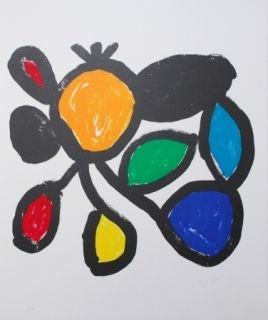 Lithographie Ionesco - Les fleurs