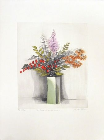 Gravure Antonini - Les Fleurs D'automne