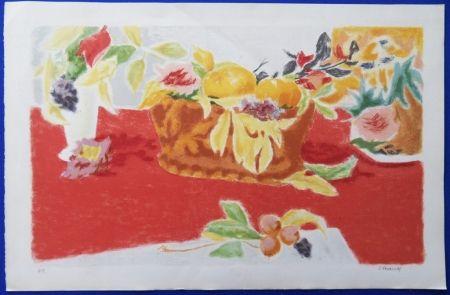 Lithographie Cavailles - Les Fruits