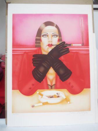 Lithographie Okshteyn - Les gants noirs