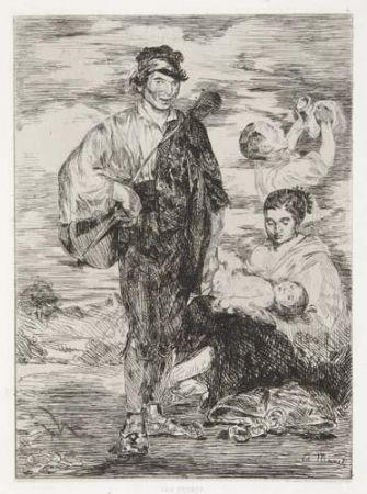 Gravure Manet - Les gitanos, in