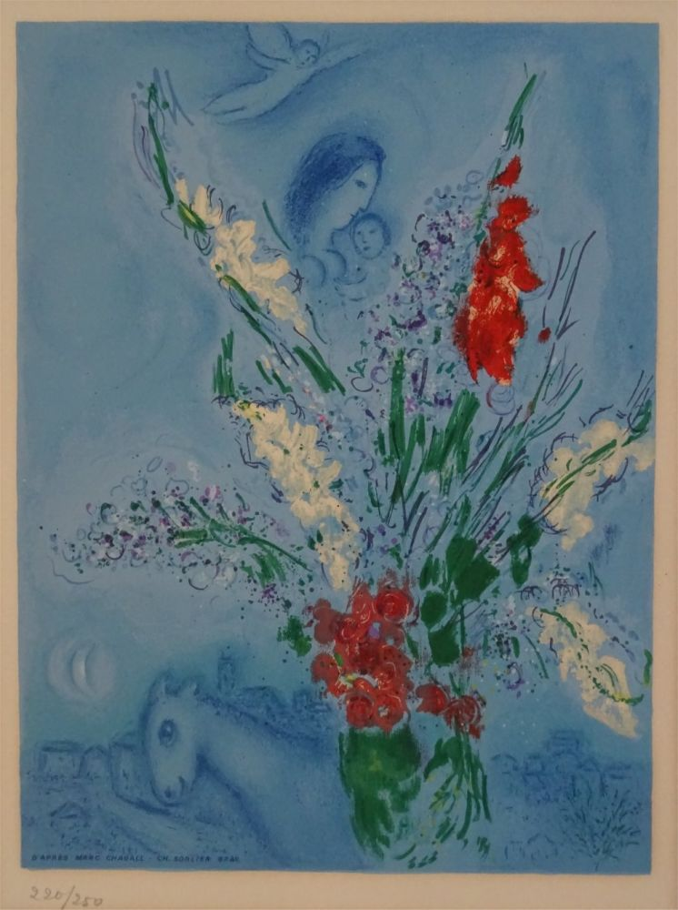 Lithographie Chagall (After) - Les Glaieules