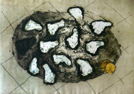 Gravure Barcelo - Les huitres