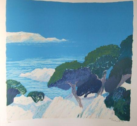 Lithographie Muhl - Les iles de Lerens.